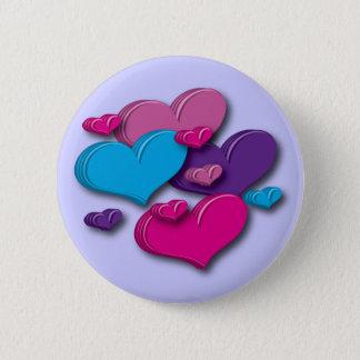 hart-multicoloured Knoop Ronde Button 5,7 Cm