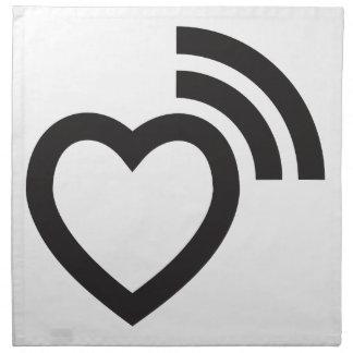 hart signalerende liefde servet