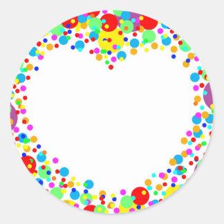 hart stiker ronde sticker