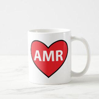 Hart van Amor AMR van het Bericht van de tekst het Koffiemok