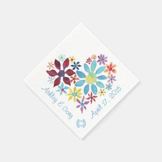 Hart van Bloemen Papieren Servetten