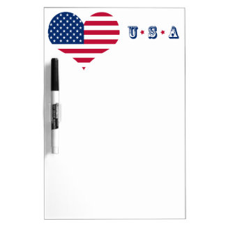 Hart van de de vlag het Amerikaanse V.S. van Whiteboards