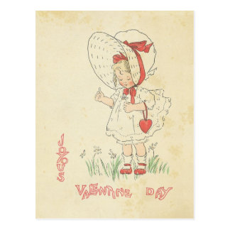 Hart van het Meisje van de Groeten van de Briefkaart
