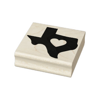 Hart van Zegel van de Kunst van Texas de Rubber Rubberstempel