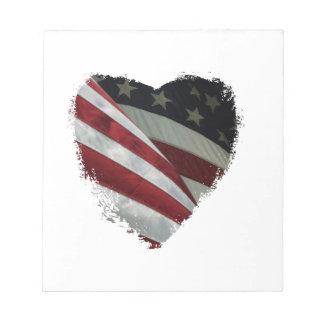 hart vlag notitieblok