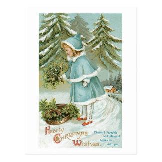 Hartelijke Kerstmis wenst Wijnoogst Briefkaart