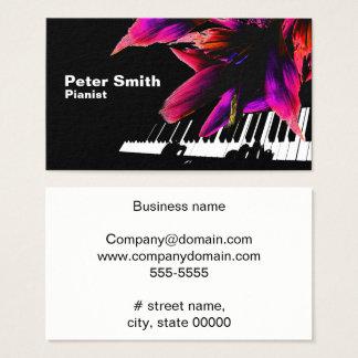 Hartelijke Pianist Visitekaartjes