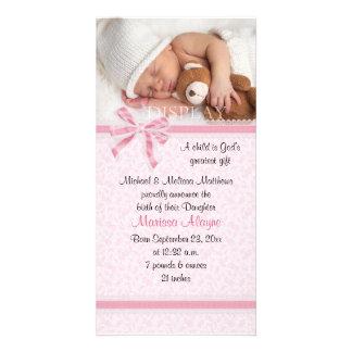 Harten en de Aankondiging van de Geboorte van de F Persoonlijke Fotokaarten