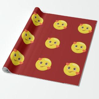 Harten & het Verpakkende (rode) Document van Inpakpapier