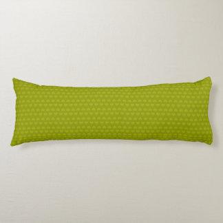 Harten patroon-Twee Groene Toon/Limoen Lichaamskussen