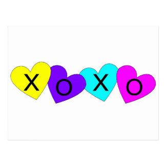 Harten XOXO Briefkaart