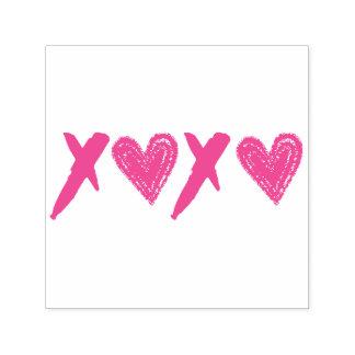 Harten XOXO Zelfinktende Stempel