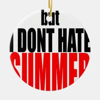 hater van de de vakantieflirt van het de zomereind rond keramisch ornament