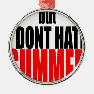 hater van de de vakantieflirt van het de zomereind zilverkleurig rond ornament