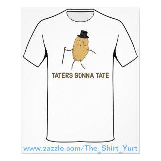 Haters gaan haten en Taters die naar Tate gaan Flyer 11,4 X 14,2 Cm