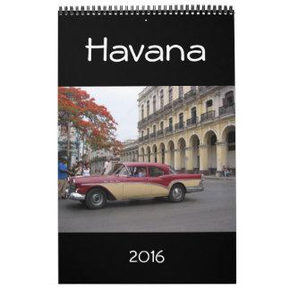 Havana Cuba 2016 Kalender
