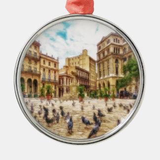Havana Cuba door Shawna MAC Zilverkleurig Rond Ornament