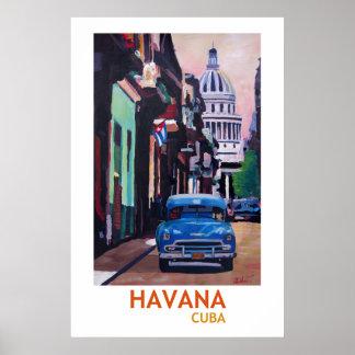 Havana Cuba - Retro Poster II van de Stijl