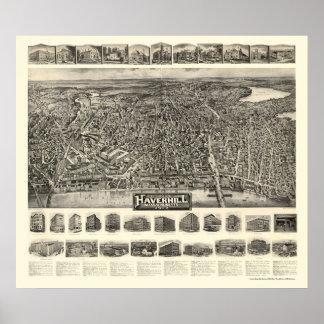 Haverhill, de Panoramische Kaart van de Poster