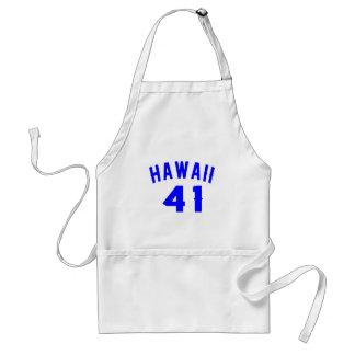 Hawaï 41 Design van de Verjaardag Standaard Schort