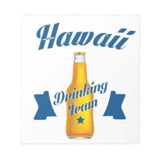 Hawaï die team drink kladblokken