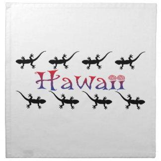 hawai gekko's katoenen servet