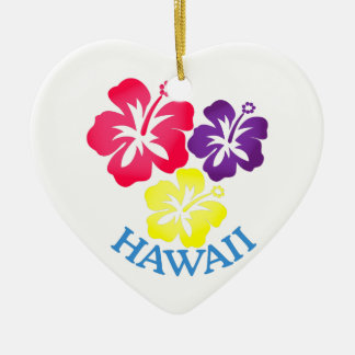 Hawaï Keramisch Hart Ornament