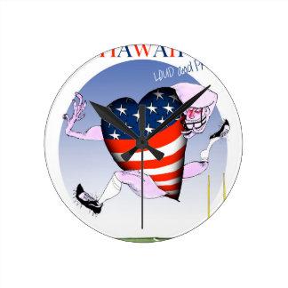 Hawaï luide en trotse, tony fernandes ronde klok