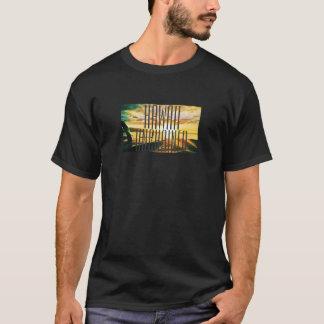 Hawaï Ontketende Grafische Zonsondergang T Shirt