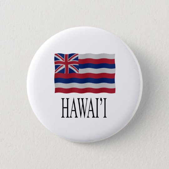 Hawai'i flag ronde button 5,7 cm