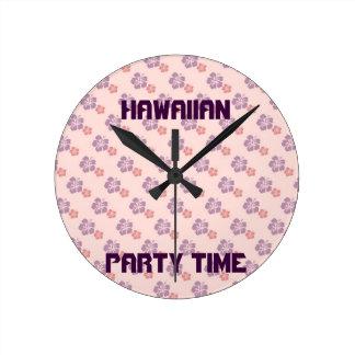 Hawaiiaans bloemroze en paars ronde klok