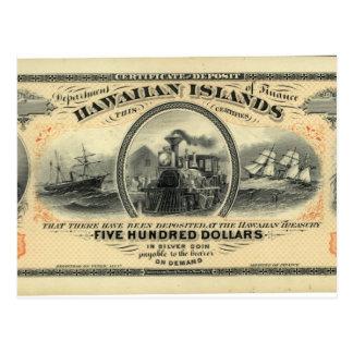 Hawaiiaans geldbriefkaart briefkaart