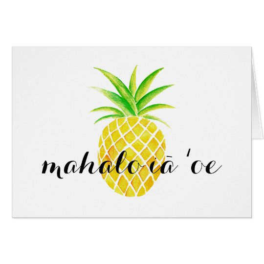 Hawaiiaans mahaloiā bedankt ʻoe van de Waterverf Briefkaarten 0