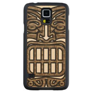 Hawaiiaans Masker Tiki Esdoorn Galaxy S5 Slim Hoesje