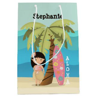 Hawaiiaans Meisje Surfer Medium Cadeauzakje