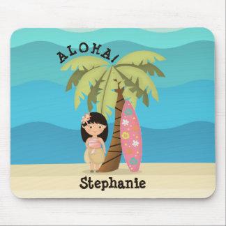 Hawaiiaans Meisje Surfer Muismatten