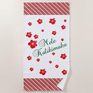 Hawaiiaanse Kerstmis ~ Mele Kalikimaka Strandlaken