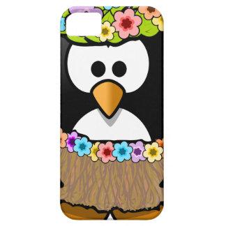 Hawaiiaanse Pinguïn met bloemen en grasrok Barely There iPhone 5 Hoesje