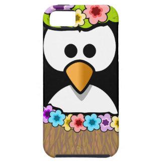 Hawaiiaanse Pinguïn met bloemen en grasrok Tough iPhone 5 Hoesje