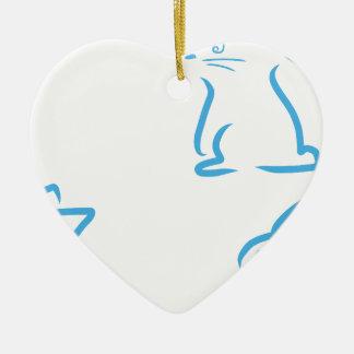 Hazen #2 keramisch hart ornament