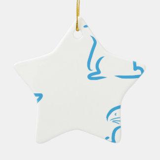 Hazen #2 keramisch ster ornament