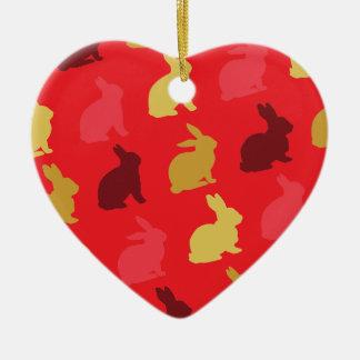 Hazen Keramisch Hart Ornament
