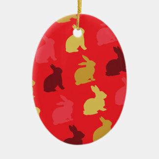 Hazen Keramisch Ovaal Ornament
