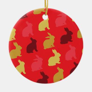 Hazen Rond Keramisch Ornament