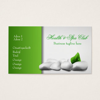Health & Spa Club Business Card Visitekaartjes