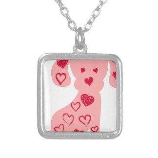 heart13 zilver vergulden ketting