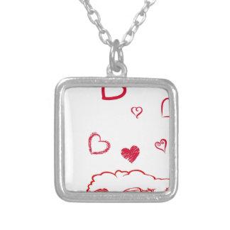 heart14 zilver vergulden ketting