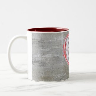 Heart Love Mug Red, Grey, White zazzle_mug