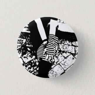 hearted punker ronde button 3,2 cm