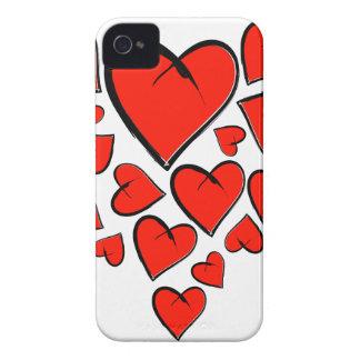 Heartinella - vliegende harten iPhone 4 hoesje